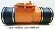 CLAPETA EN LINEA DE PVC CON CONEXIONES DN 50 - DN 800