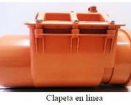 CLAPETA  EN  LINEA  DE  PVC  DN 50 - DN 800